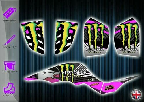 QUADZILLA PROSHARK 100 STICKERS - GRAPHICS KIT - DECALS - QUADZILLA GRAPHICS KIT - 233938966835